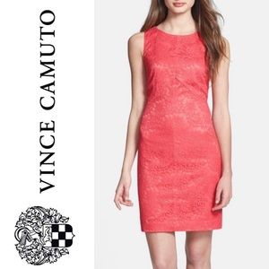 🎈NEW LIST! Vince Camuto Mitered Lace Sheath Dress